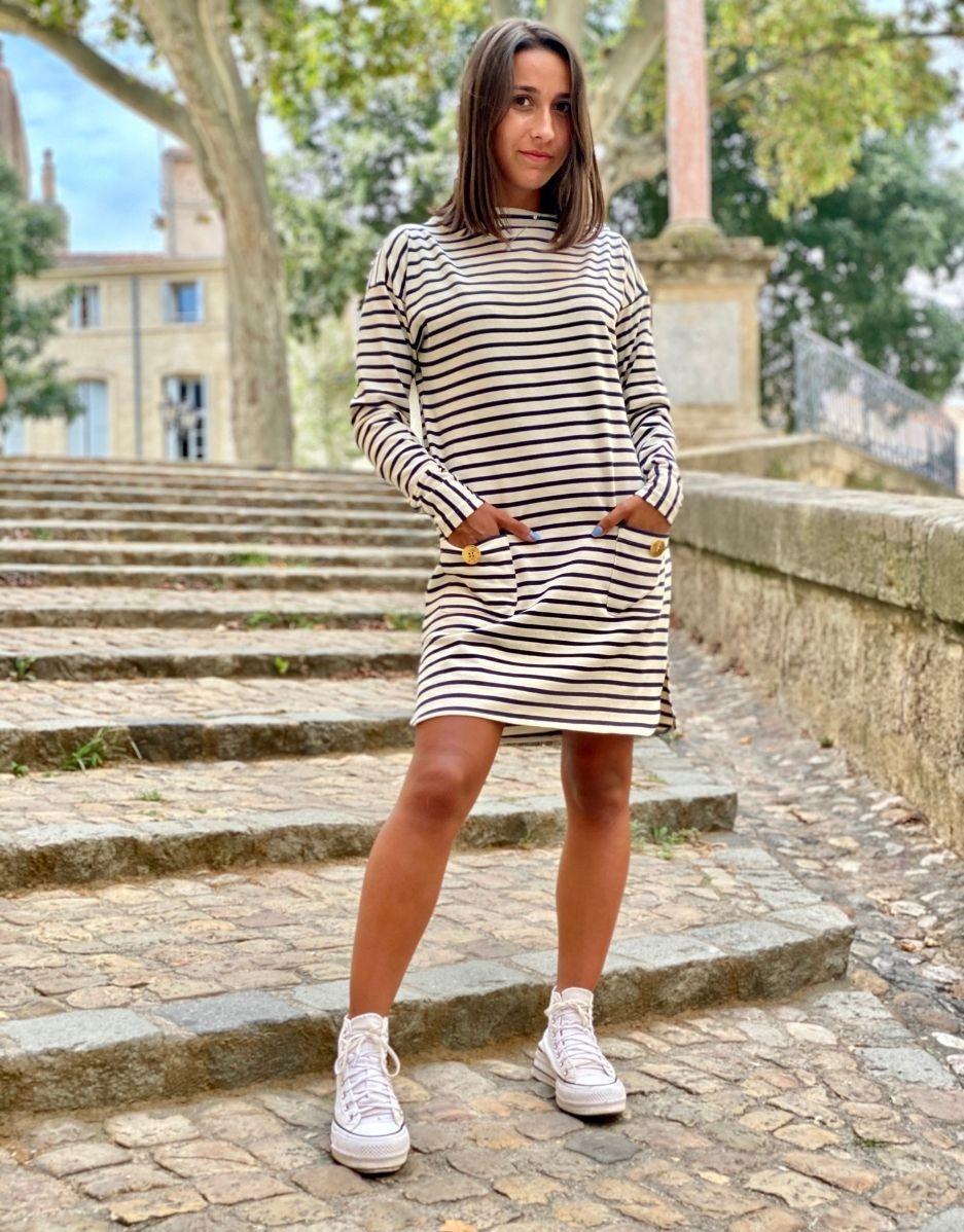 Robe marinière Fanny-Ma petite robe française