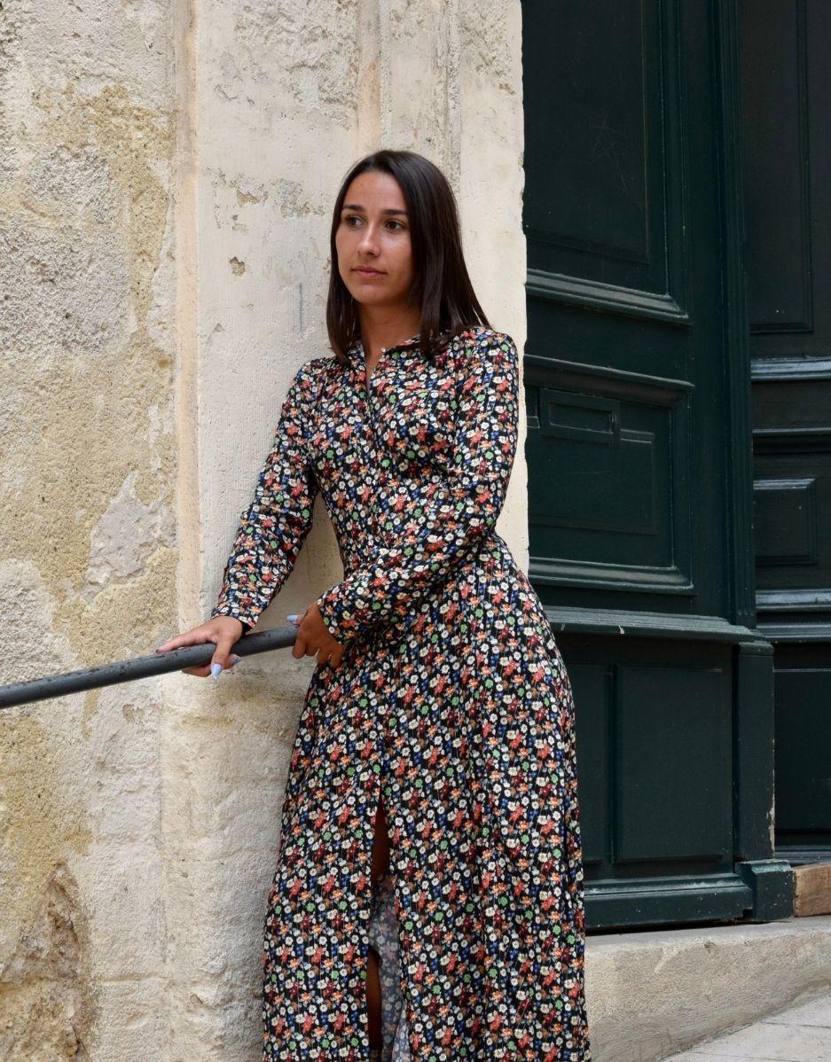 Robe longue fleurie Alice-Mapetiterobefrancaise