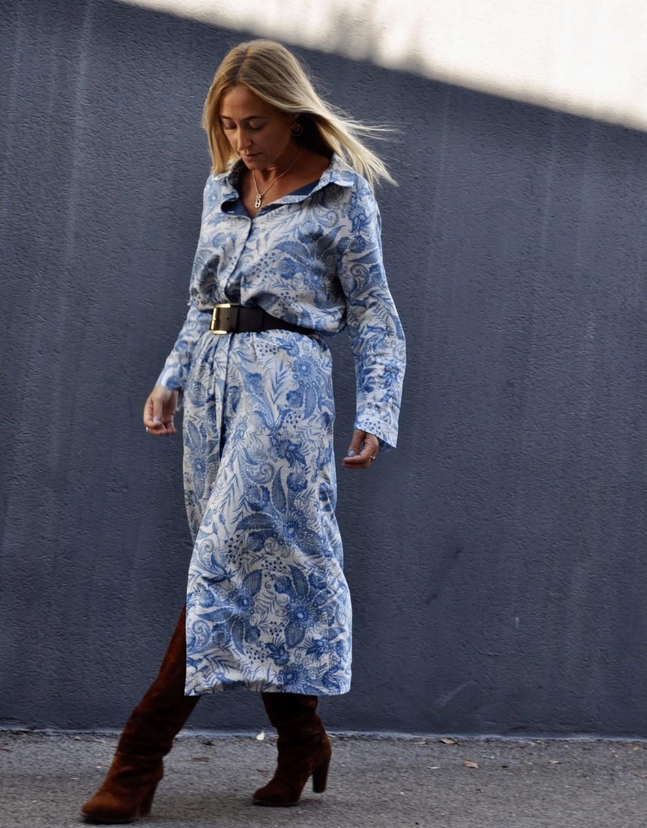 Robe longue - Ambre - Ma petite robe française