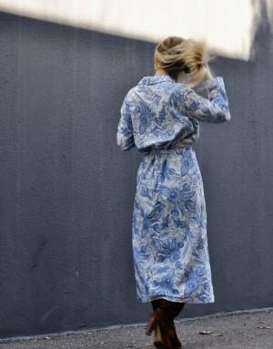 Robe longue boutonnée - Oversize - Ma petite robe française