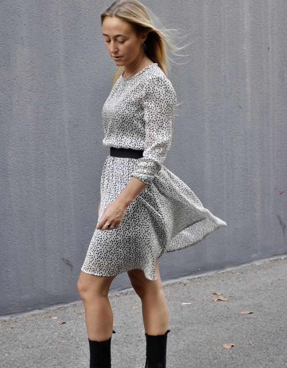 Robe courte - coupe patineuse - Inès - Ma petite robe francaise