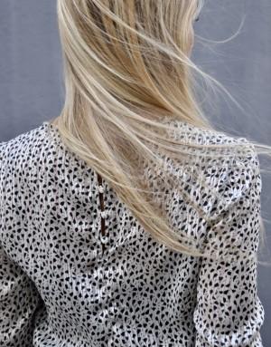 Robe patineuse - Inès - noire et blanche - ma petite robe francaise