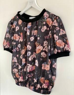 Haut - Béa - Lilou - Imprimé Lilou - Imprimé rose et noir - manches courtes - Ma petite robe francaise
