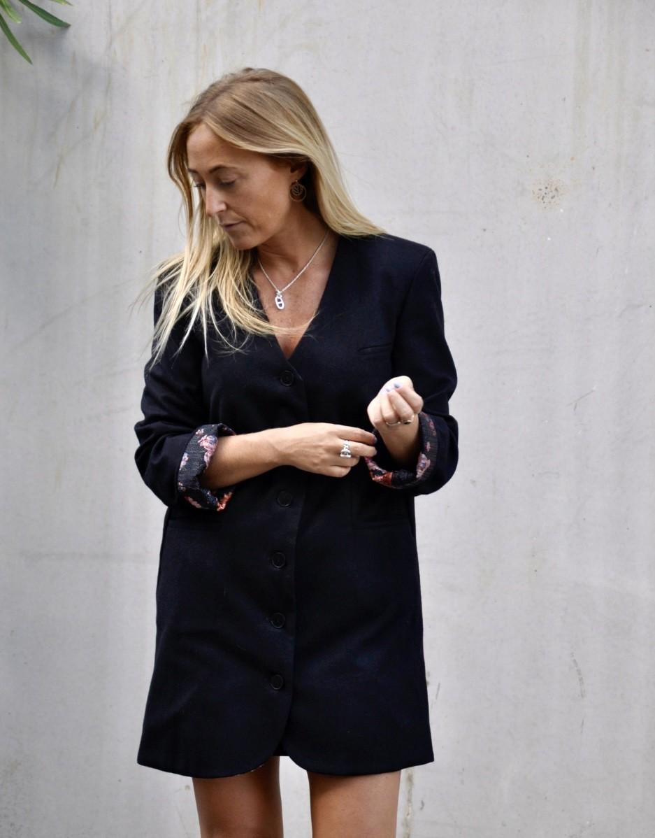 Robe - blazer - redingote - noire - Ma petite robe française