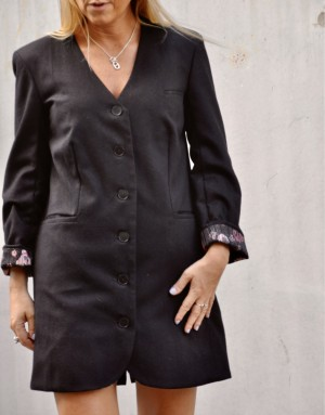 Karine - robe - blazer - veste - noire - Ma petite robe francaise