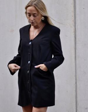 Karine - robe blazer - total look noir - Ma petite robe francaise